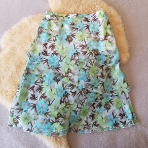 *4/$30* Gerry Weber A-line Midi Floral Skirt